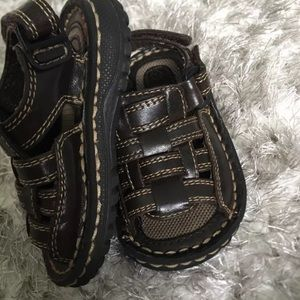 Faded Glory Open Strap Sandal Toddler Size 5 Brown